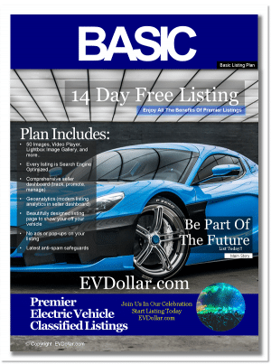 EV Classifieds - Electric Cars For Sale | Buy & Sell EV listing package basic px