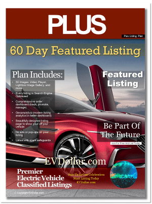 EV Classifieds - Electric Cars For Sale | Buy & Sell EV listing package plus px