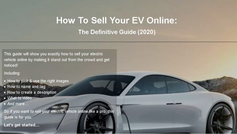 sell your ev hybrid online guide